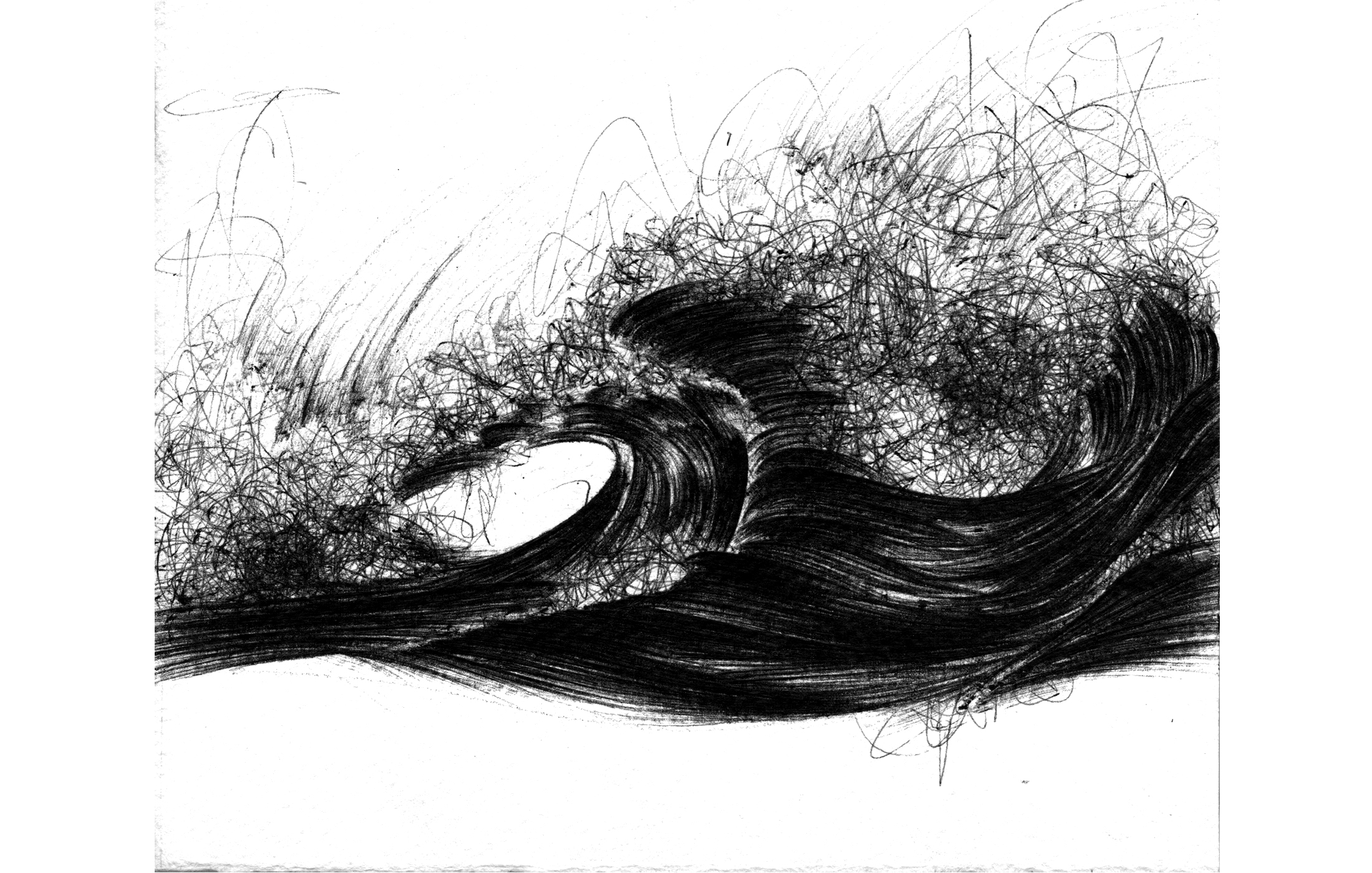 Agathe Toman fire will be followed by the thud I bic illustration wave art