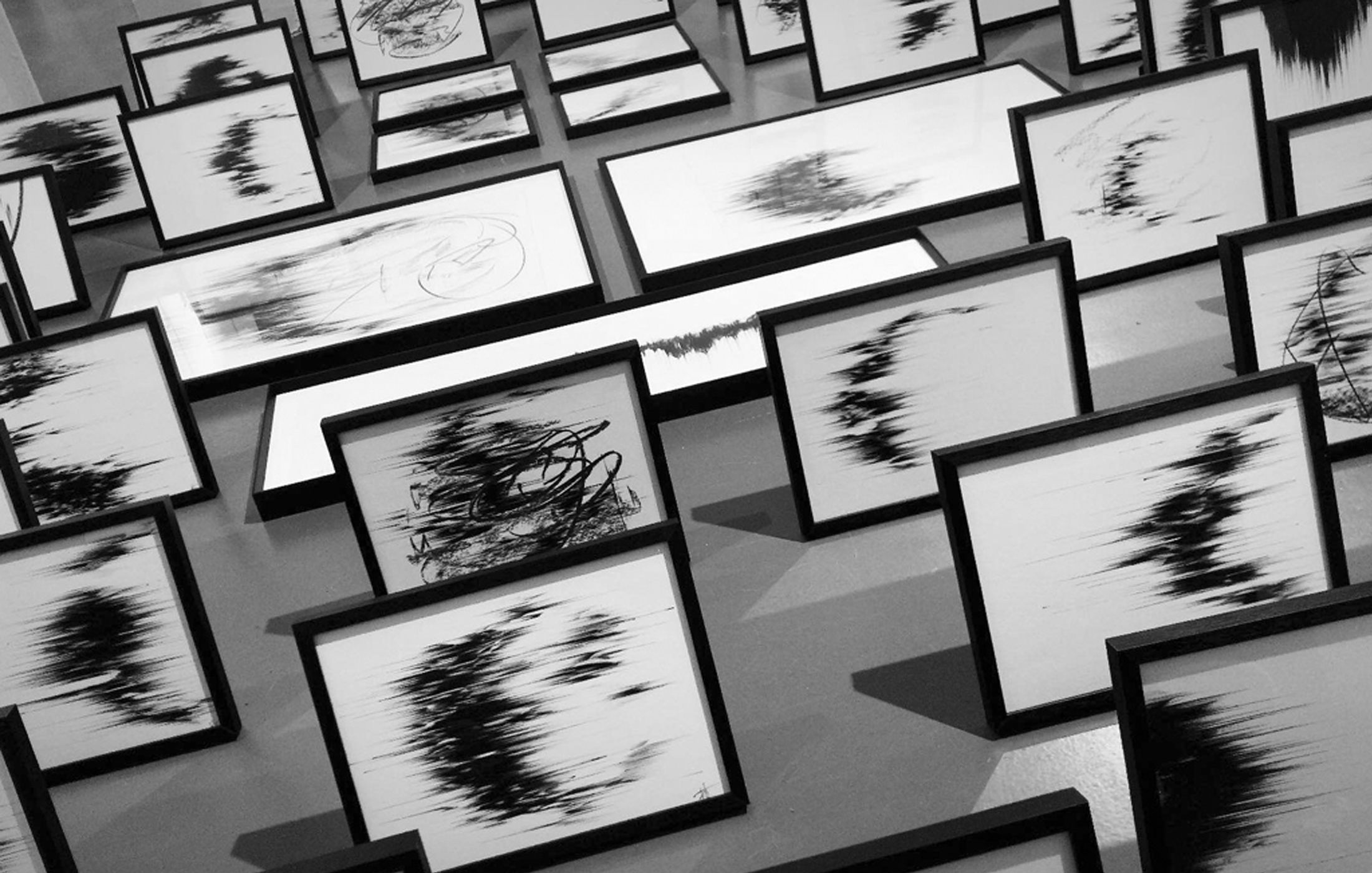 Agathe Toman Incarnation Drawing Contemporary Art black and white