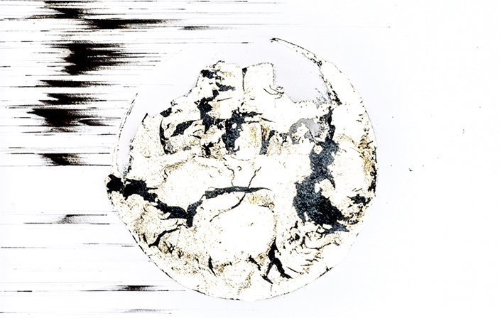 Agathe Toman Ceci Est Toi Drawing Painting Moon Contemporary Art Biarritz Exhibition