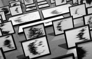 Agathe Toman Panique contemporary drawing black and white