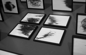 Agathe Toman Mélange drawing contemporary art black and white