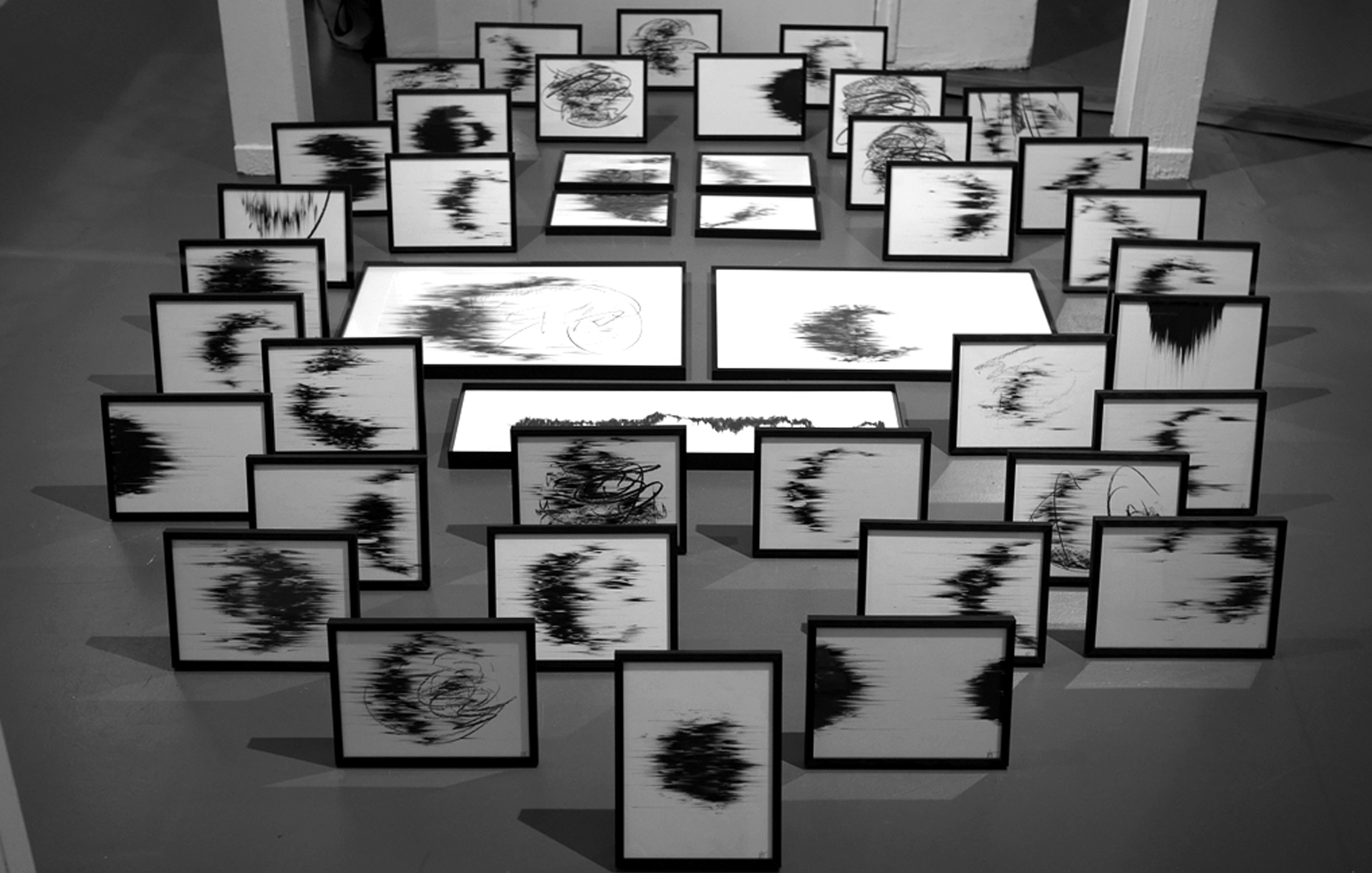 Agathe Toman Mélancolie contemporary art drawing black and white