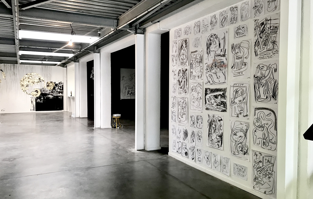Agathe Toman Gomarht Chères Exhibition Contemporary Art Drawing Painting Biarritz