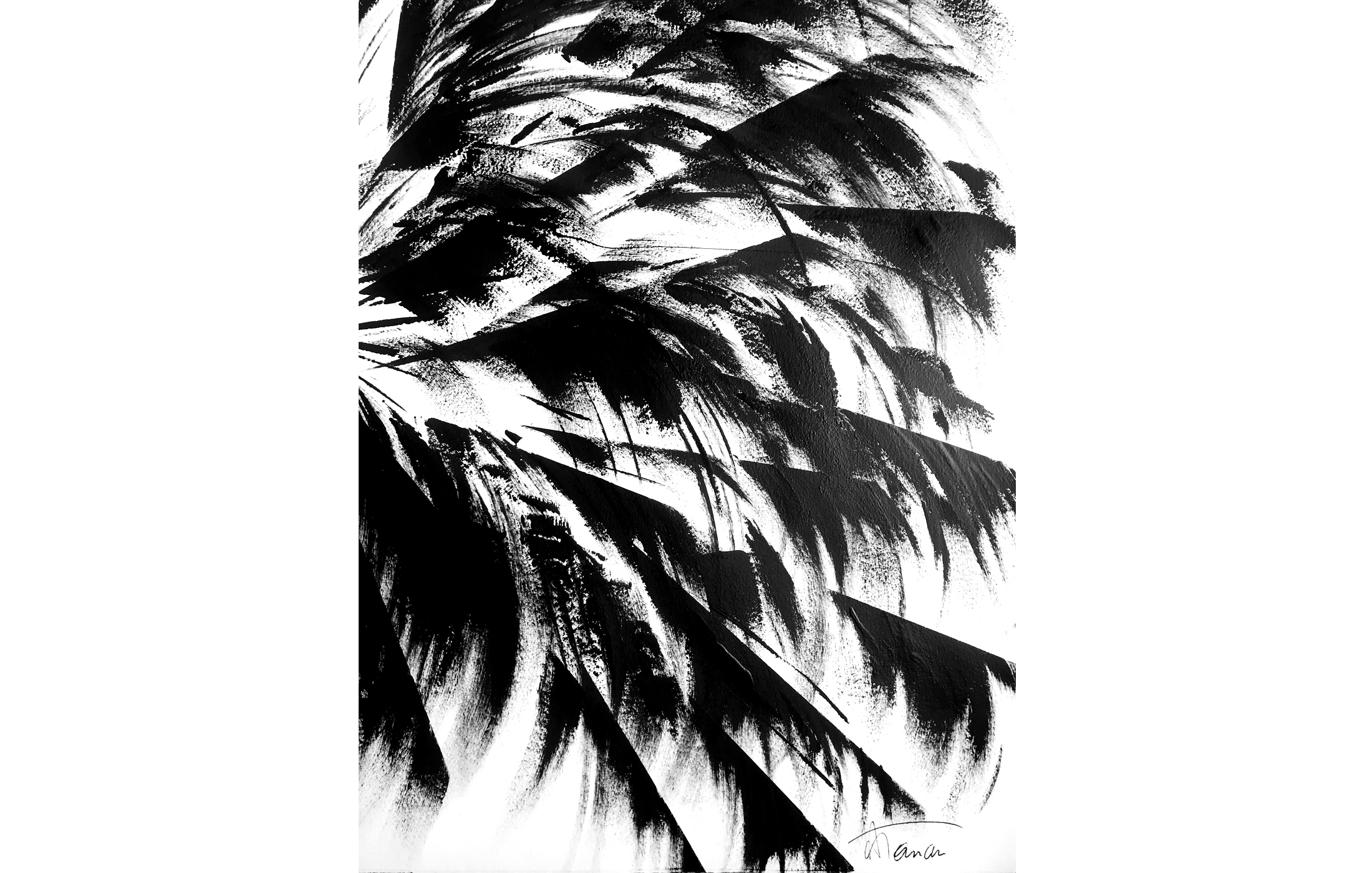 Agathe Toman Summer Bummer Art Painting Palm Tree