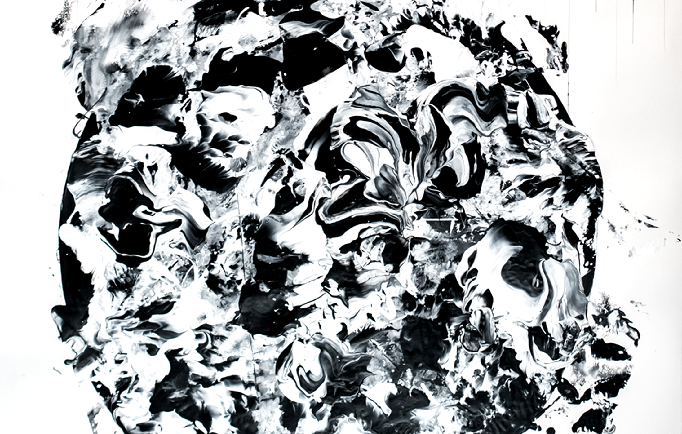 Agathe Toman Un battement par minute II Art Drawing Contemporary Artist French Paint Painting Black and white abstract bic