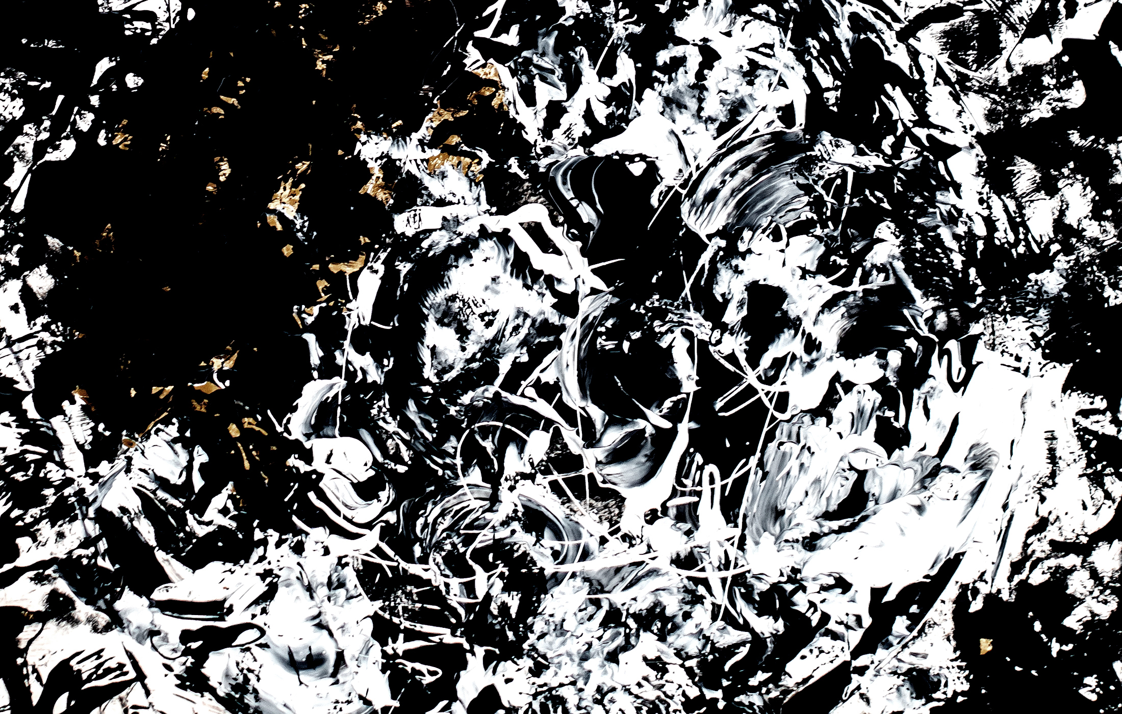 Agathe Toman Amour IV Abstract Contemporary Art Painting Black and White Drawing Paint