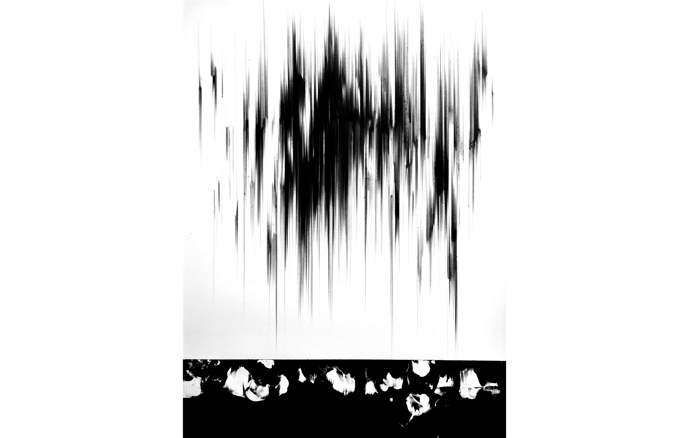 Agathe Toman It Echoes The Invisibles One Sacred Painting Contemporary Drawing Painting Black White Abstract Art Artist Paris DDessin Art Fair