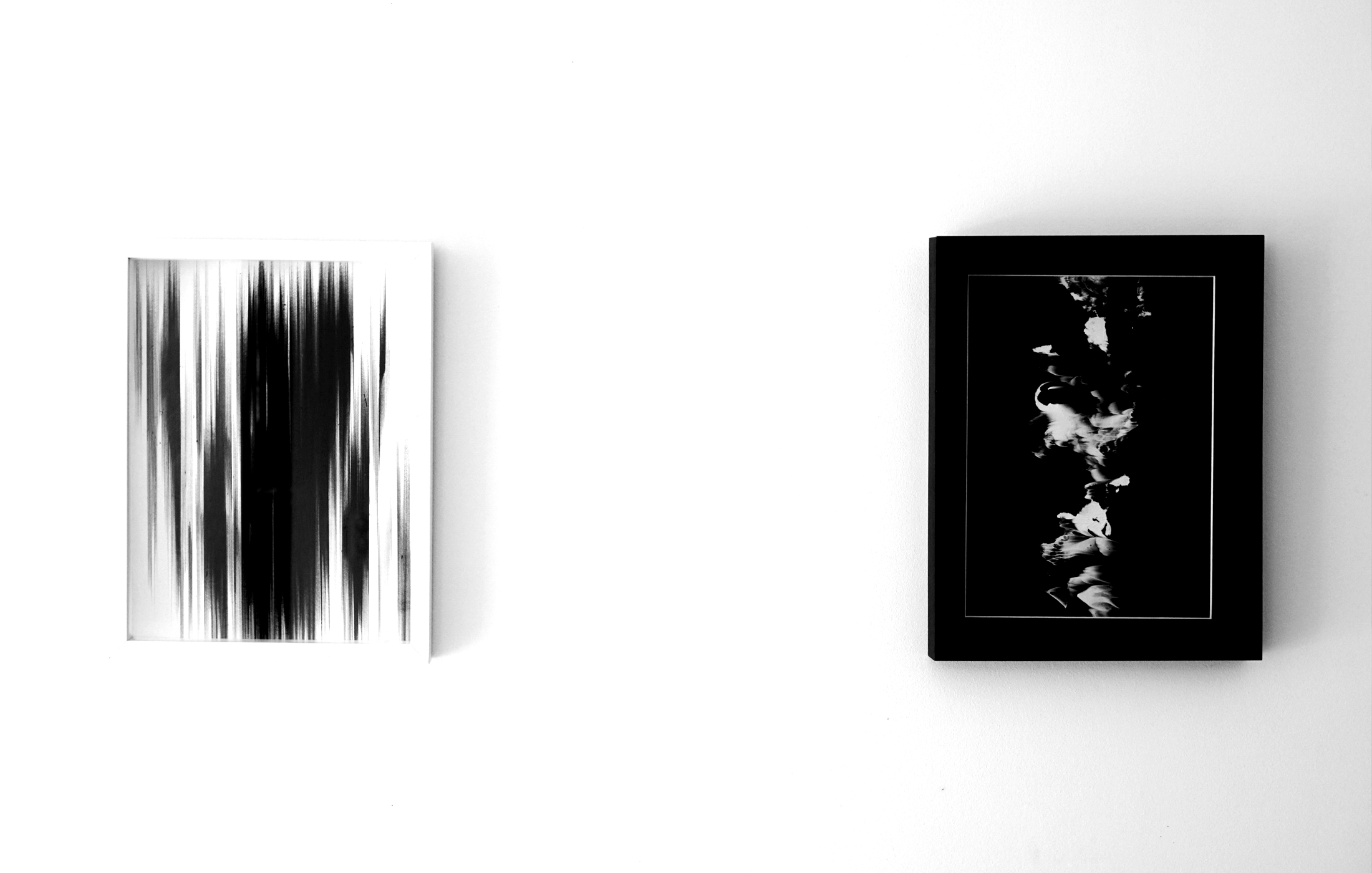 Agathe Toman Unfold #2 Painting Abstract Art Woman Artist French Biarritz Gallery Exhibition Paris Contemporary Modern Black White Shades