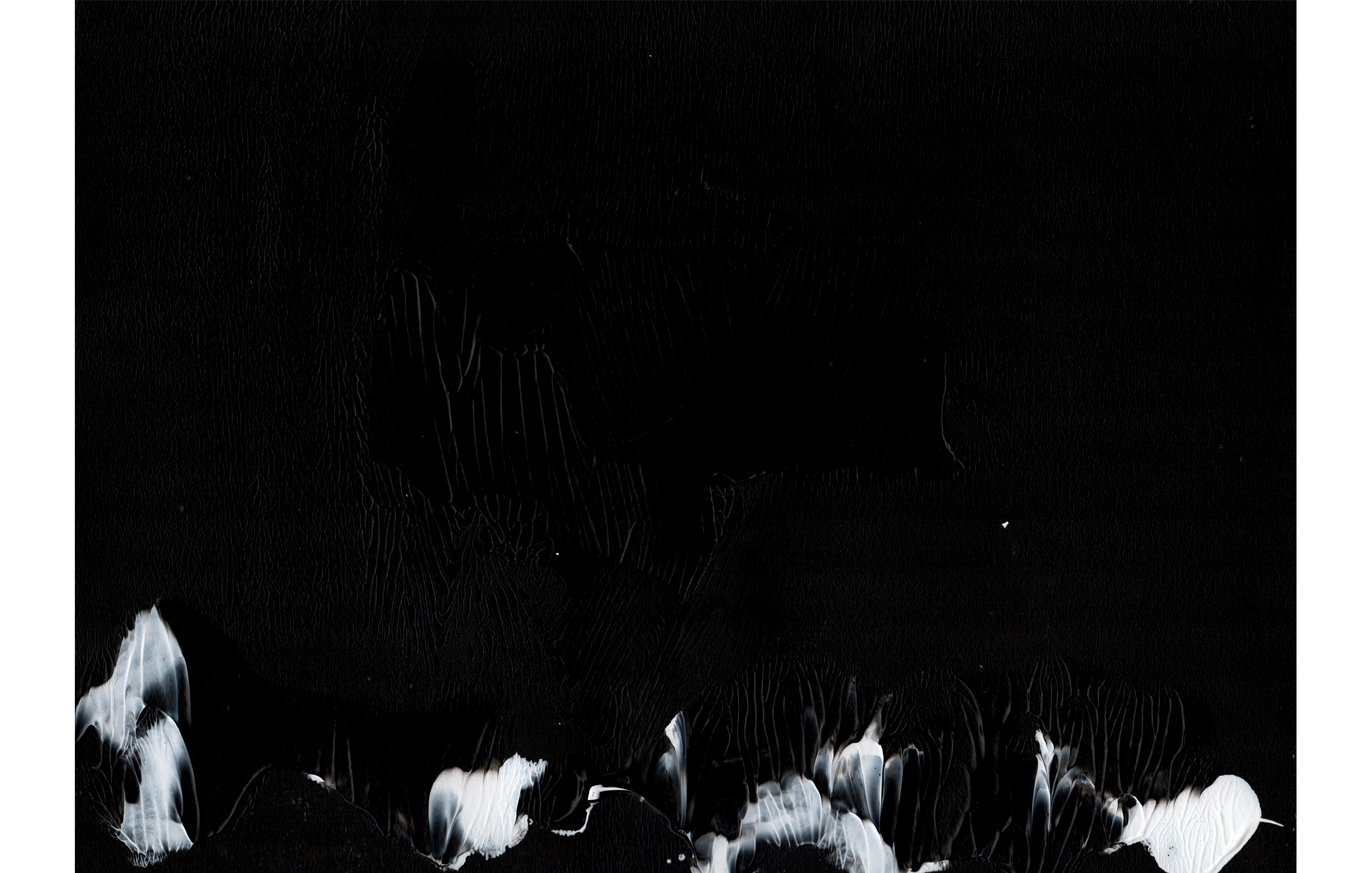 Agathe Toman Unfold #3 Painting Abstract Art Woman Artist French Biarritz Gallery Exhibition Paris Contemporary Modern Black White Shades