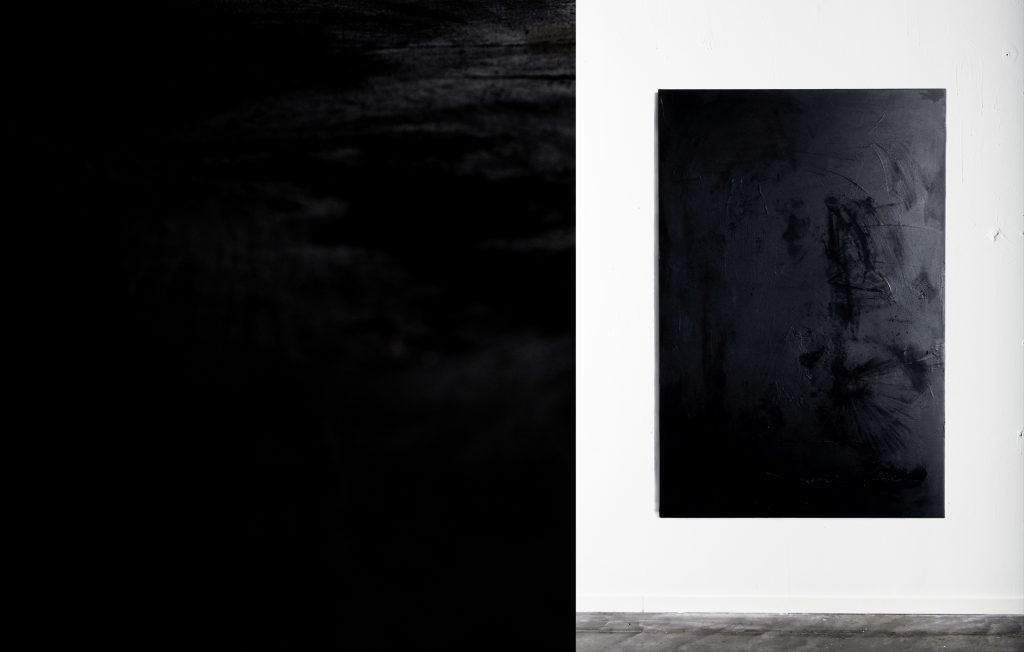 Agathe Toman Thus _These things Inside Art Artist Arts Black Noir Monochrome Abstract Contemporain Abstrait Contemporary French Hossegor Gallery Paris